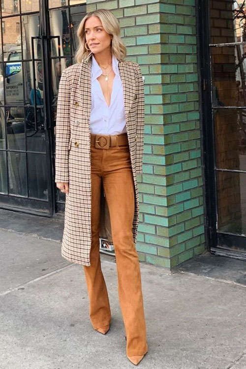 Kristin Cavallaris Shows An Impossibly Chic Way to Wear Suede .