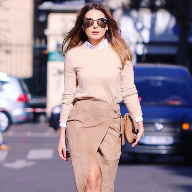 How to Wear a Suede Skirt | POPSUGAR Fashi