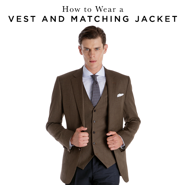 How To Wear A Vest And Matching Jacket | Black Lap