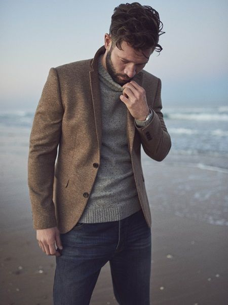 can't wait for fall // menswear, mens style, blazer, sweater .