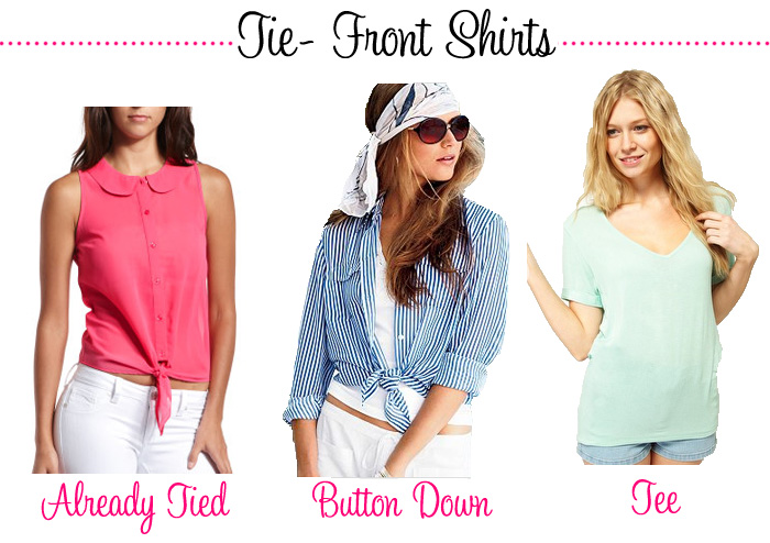 How to Wear A Tie-Front Shirt - Real Girl Gl