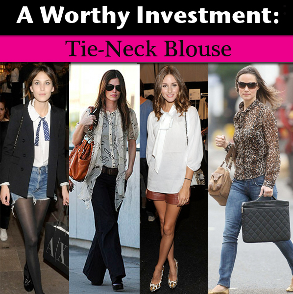 A Worthy Investment: Tie-Neck Blouse - a new mo