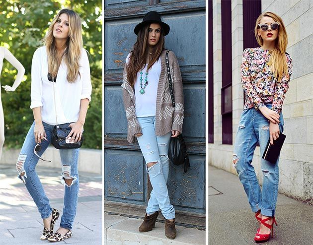 Ripped Jeans Trend: How to Wear Ripped Jeans | Skinny jeans style .
