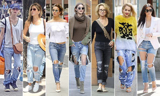 Why is everyone wearing ripped jeans? | Daily Mail Onli