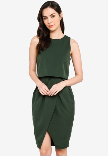 Shop ZALORA BASICS Double Layer Tulip Skirt Dress Online on ZALORA .