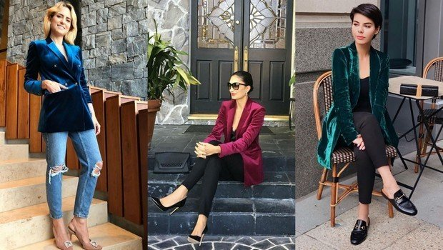 14 Bloggers' Outfits Proving Velvet Blazers to Be Winter