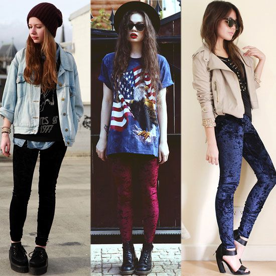 how to wear velvet leggings - Google Search | Outfits with hats .