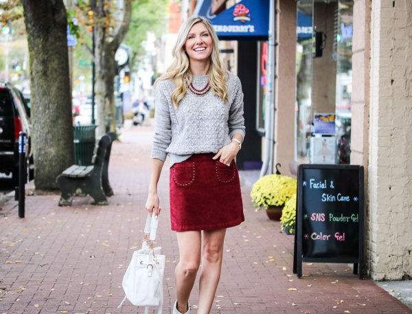 14 Amazing Outfit Ideas on How to Wear Velvet Skirts - FMag.c