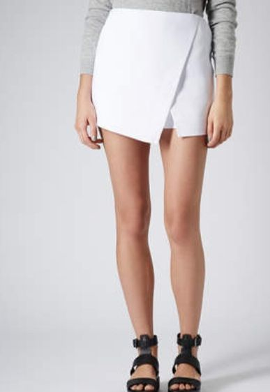 Topshop white envelope skirt | Wrap skort, Skort, White envelope ski