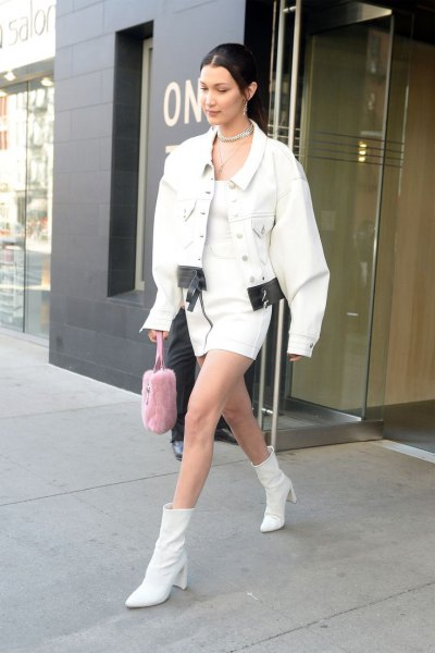 How to Wear White Leather Boots for Women - FMag.c