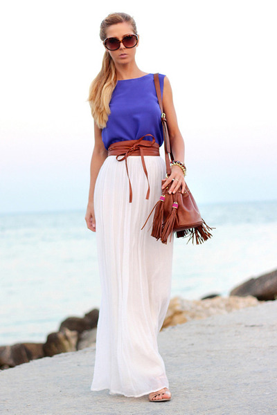 How to Wear White Maxi Skirt - Search for White Maxi Skirt | Chictop