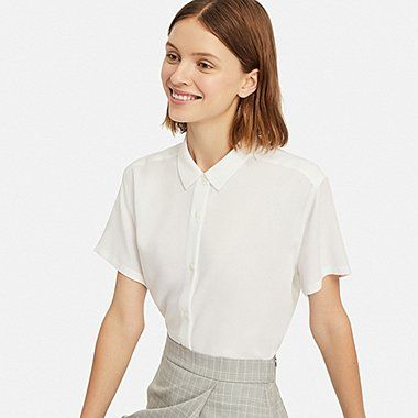 Women's Shirts and Blouses | UNIQLO US | Short sleeve blouse .