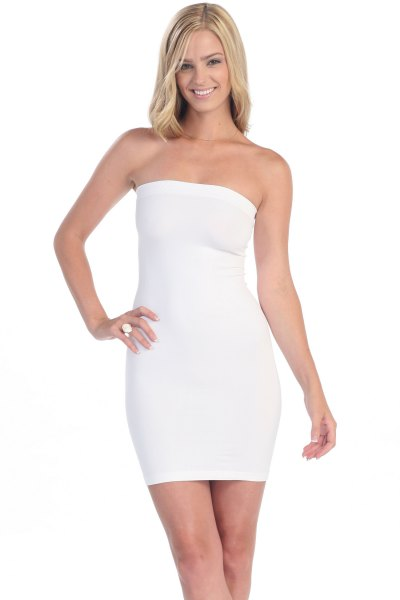How to Wear White Tube Dress: 15 Chic Outfit Ideas - FMag.c