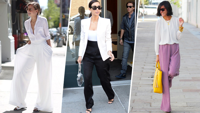 How to Wear Wide-Leg Pants This Season: 6 Styling Tricks | StyleCast