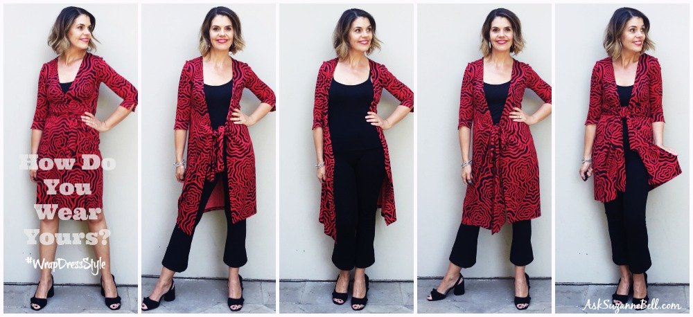 How to Wear a DVF Wrap Dress as a Tunic Top or Cardigan - Ask .