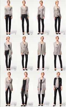 A single sweater, 12 ways | Unclutterer | Convertible clothing .