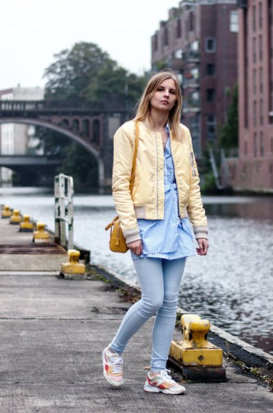 How to Wear Yellow Bomber Jacket: 15 Stylish Outfit Ideas for .