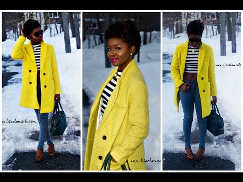 What to Wear With a Yellow Coat: Outfit of the Day - YouTu