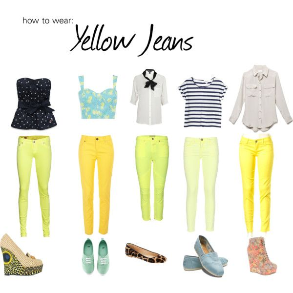 Yellow Jeans | Yellow jeans, Fashion, Yellow jeans outf