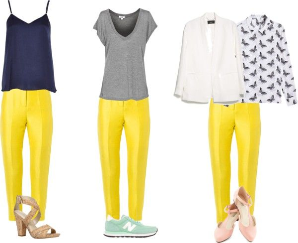 How to wear yellow pants | Dress like a parisian | Yellow pants .