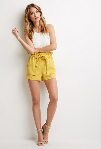How to Wear Yellow Shorts: 15 Refreshing & Cheerful Outfit Ideas .