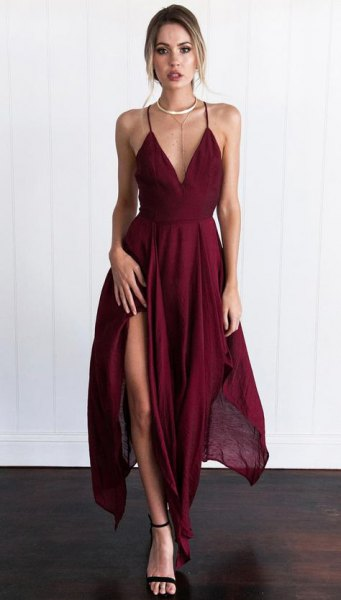 How to Wear V Neck Dress: 15 Gorgeous Outfit Ideas - FMag.c