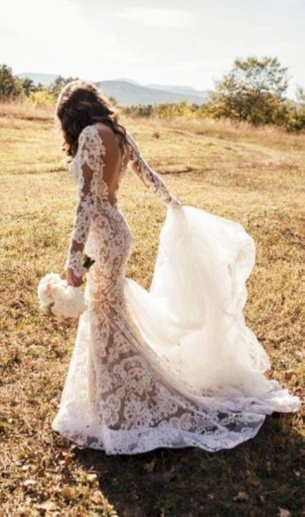 50 Gorgeous Country Wedding Dress Ideas - VIs-Wed | Ivory wedding .