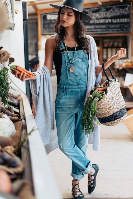 Lace-up overalls