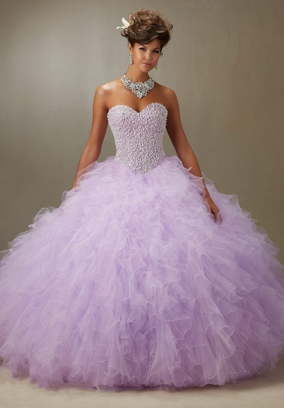 Sparkling Lavender Quinceanera Dress