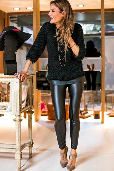 Fashion Faux Leather Leggings | Fashion, How to wear leggings .