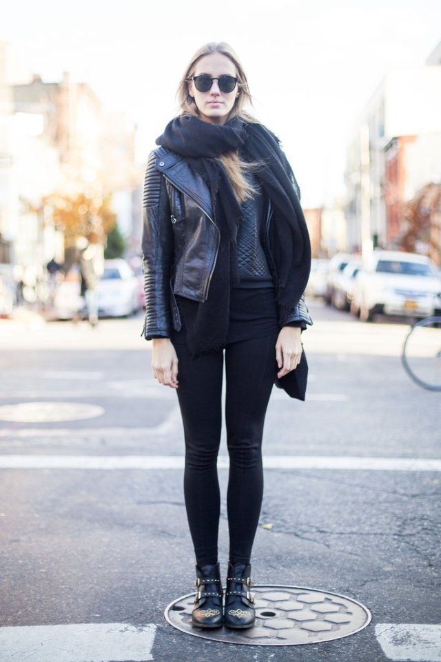 Leggings for working with leather