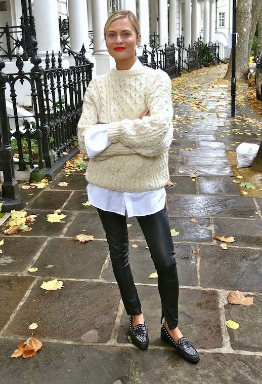 Leggings with work sweaters