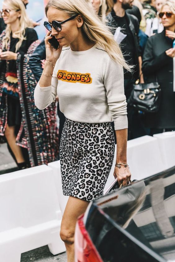 Rock blondes with leopard print