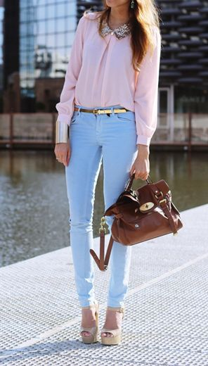 Summer Elegance | Blue pants outfit, Fashion, Light blue pan