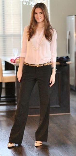 Pin by Melissa Tuttle on Office Outfits | Light pink blouses, Pink .