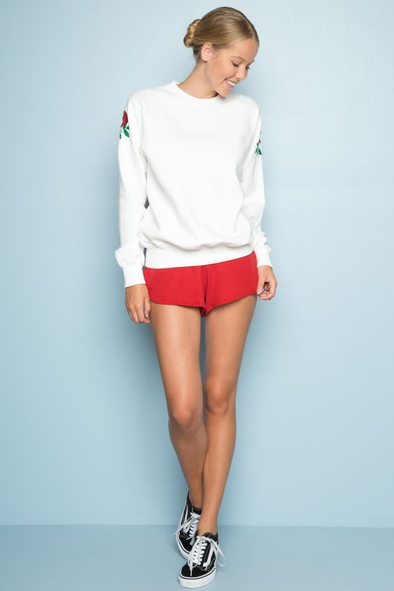 Lisette shorts embroidery