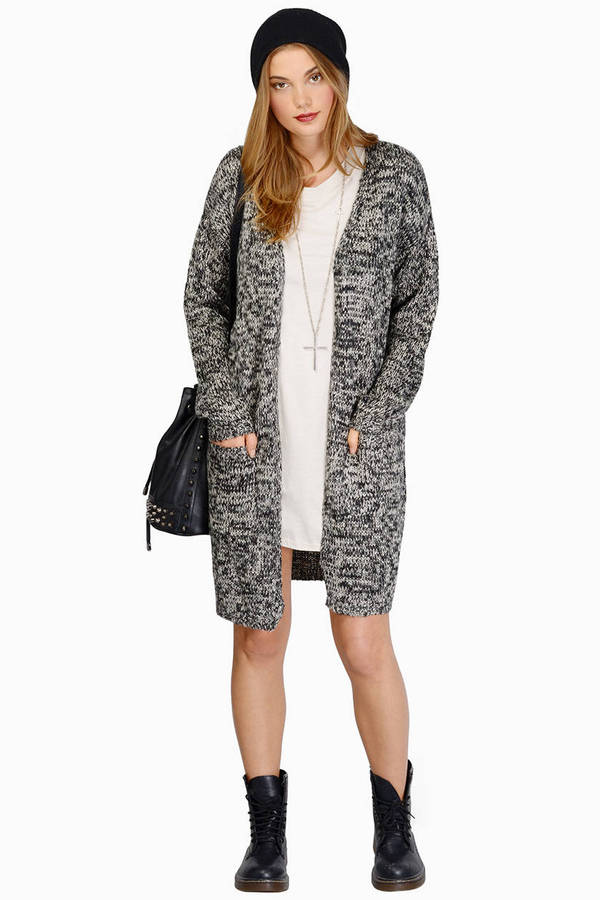 long cardigan sweater t shirt dress