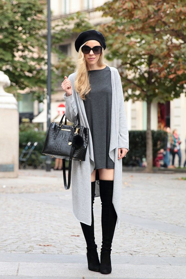 long cardigan with cardigan