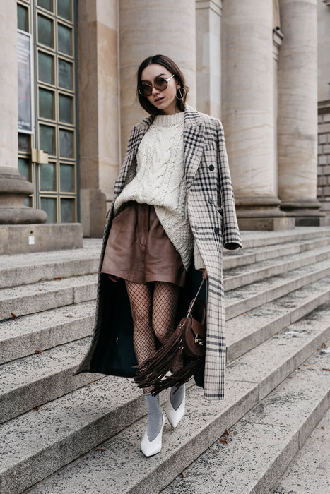 Long coat knitted sweater
