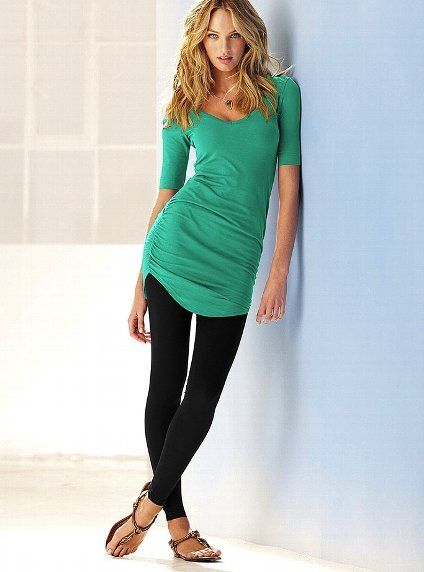 Long shirt with leggings | Long shirt with leggings, How to wear .