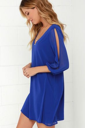 Long sleeve neckline Long sleeve mini dress with V-neckline