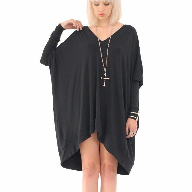 long sleeved oversized t-shirt dress outfit