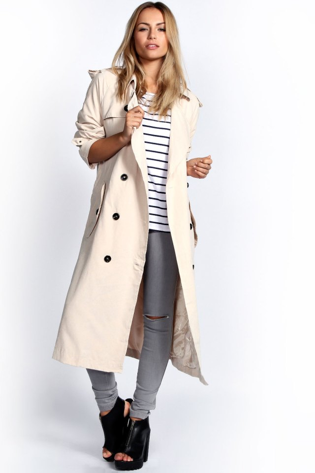 Longline trench coat woman outfit
