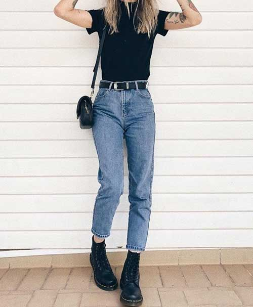 Comfy Jean Outfit | Mom jeans outfit, Casual outfits, Cool outfi