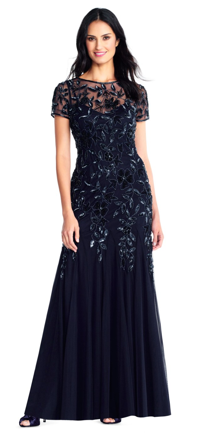 Middle of the night blue mother of the bride dresses
