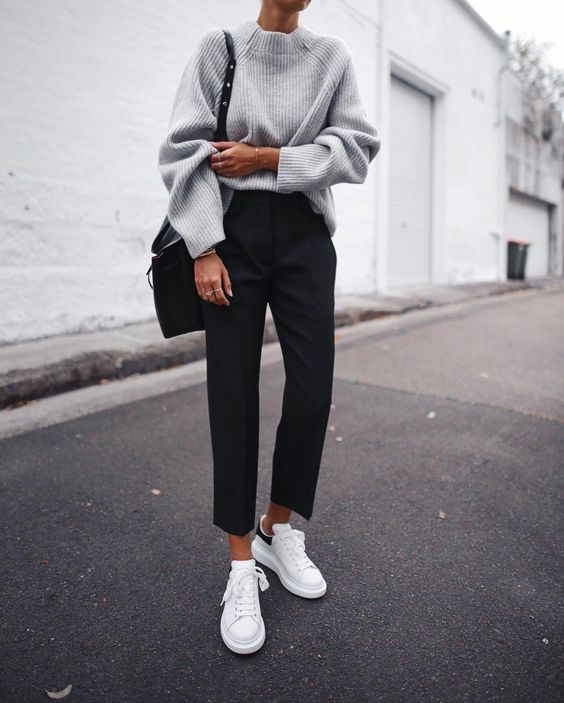 minimally chic sneakers