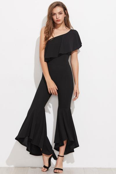 off-the-shoulder palazzo overall