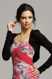 strapless maxi dress with rose pattern