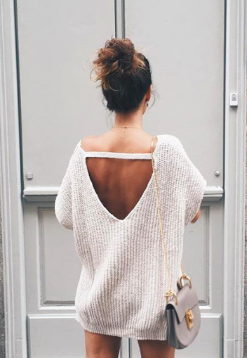open back sweaters | Fashion, Cute outfits, Cloth