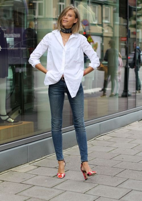 Best 13 Oversized White Shirt Outfit Ideas for Women - FMag.c